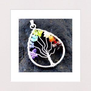 Jewelry - Seven Chakras Tree of Life Pendant & Chain